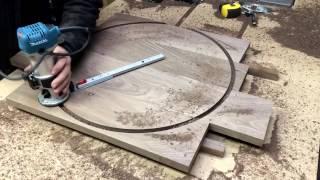 DIY walnut wall clock