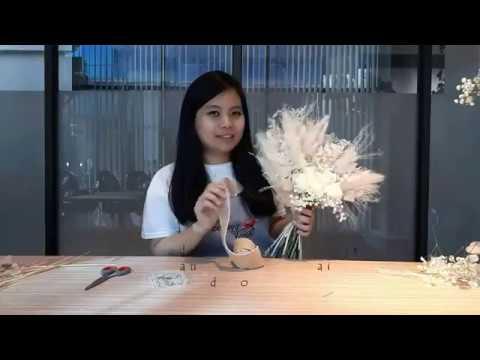 ONE STORY   Tutorial Merangkai Dried Flower   How To Make Dried Flower Bouquet