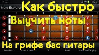 Как быстро выучить ноты на грифе бас гитары (КМБ #7)