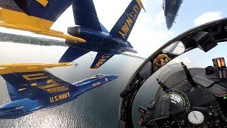 Amazing Cockpit View! US Navy Blue Angels Team Highlights
