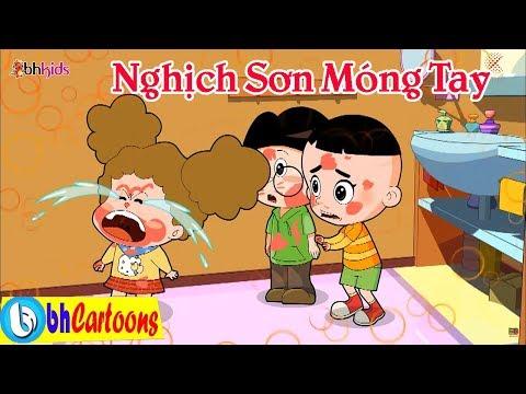 Nghịch Sơn Móng Tay | Phim Hoạt Hình Bố Đầu Nhỏ Con Đầu To | Hoạt Hình Vui Nhộn Hay Nhất 2018