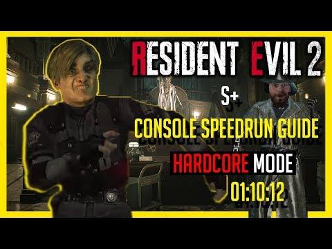 Resident Evil 2: Remake   Leon A - In-Depth Console S+ Speedrun Guide [Hardcore Mode] 01:10:12