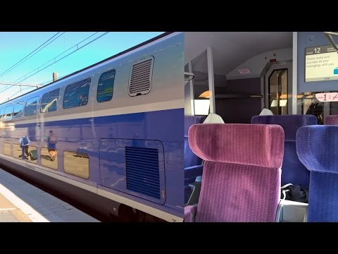 Paris - Barcelona by TGV High Speed Train in First Class (vo