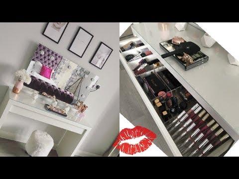 IKEA Bedroom Tour - Make up Storage Ideas