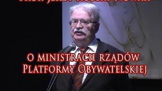 Jerzy Robert Nowak o ministrach rządów Platformy Obywatelskiej [OBEJRZYJ!]