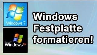Festplatte formatieren & löschen: Win XP, Vista, Windows 7