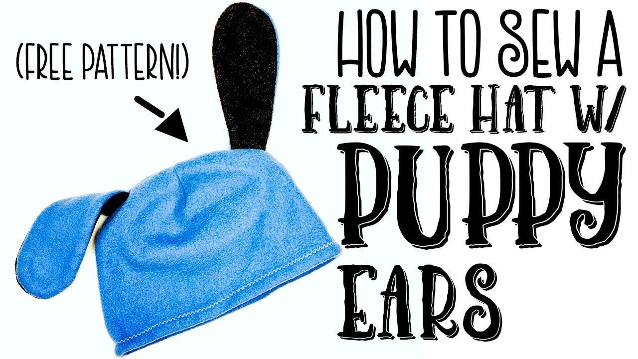 021a26d499b How to make a Fleece Hat with Puppy Ears. Fleece Fun