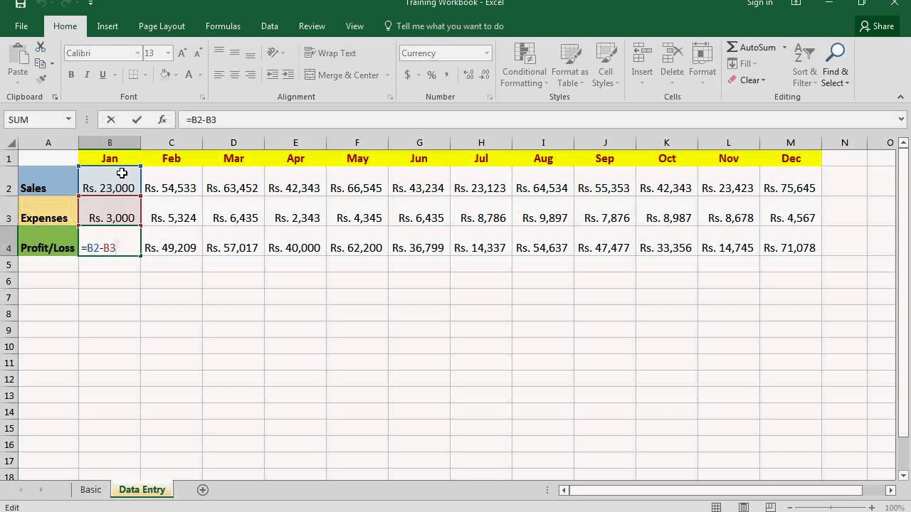 Microsoft Excel 220 Basic Course   How to use Formula Bar   Video No   220.20