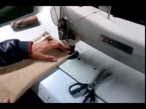 Maquina de coser brazo largo - YouTube