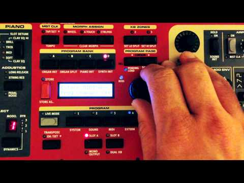 Overview of the Midi implementation on the Nord Stage 2