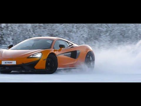 McLaren 570S Ice Driving in Ivalo, Finland