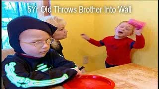 5Yr Old Throws Brother Into Wall | Supernanny USA