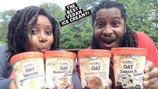 The BEST VEGAN ice cream ever?! NEW Planet Oat plant-based frozen dessert!   Taste Test + Review