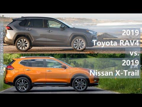 2019 Toyota RAV4 Vs 2019 Nissan X-Trail (technical Comparison)