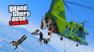 Skydive Stunts & Cargo Plane Take-down!    GTA 5 Online    PC