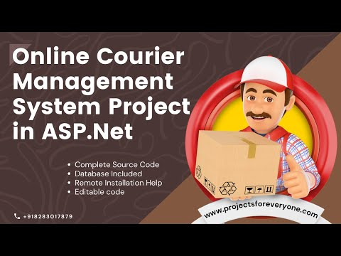 Online Courier Management System Project Website - ASP.NET with C#.Net and Sql Server image