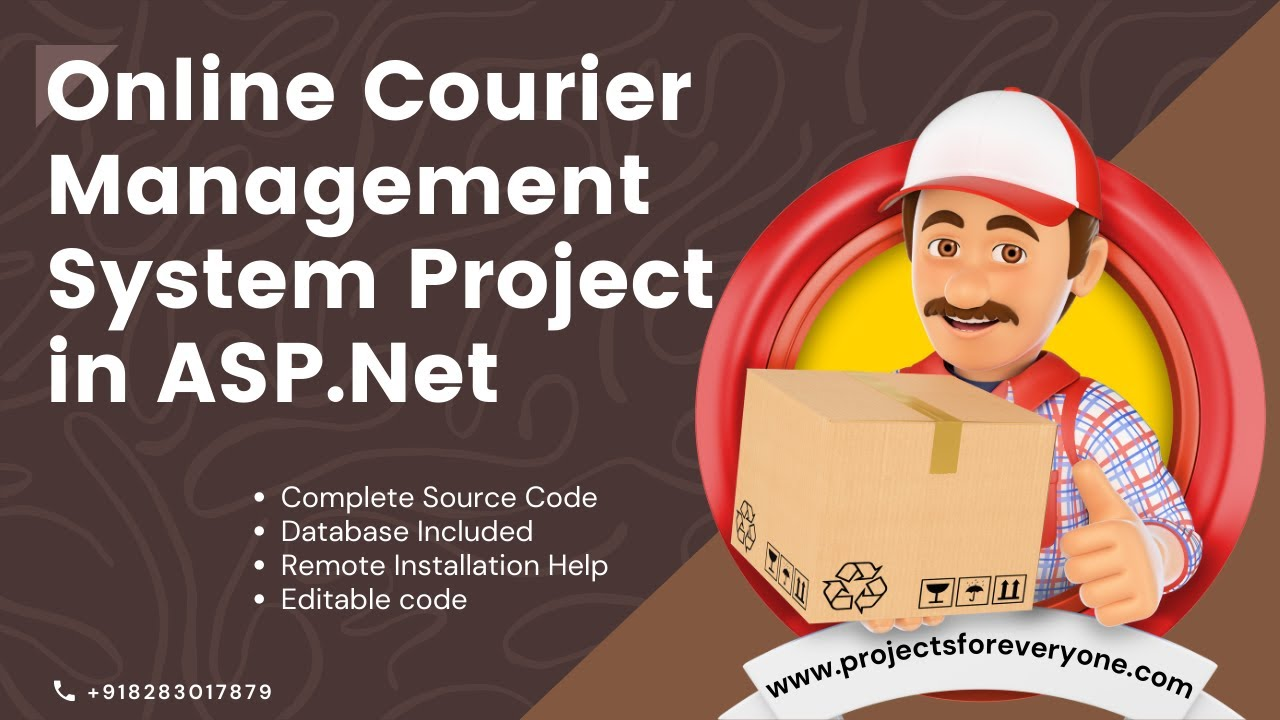 Online Courier Management Website System - ASP NET with C# Net and Sql  Server