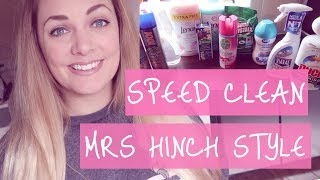 speed clean with me 2018 mrs hinch cleaning hints and tips