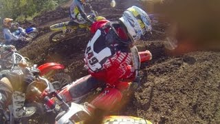 HELMET CAM: Jimmy Decotis - DEP Pipes 2 Stroke Shootout / Sleepy Hollow (MXPTV)