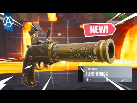 "NEW ""FLINT-KNOCK"" Gameplay! (Fortnite Battle Royale LIVE) thumbnail"