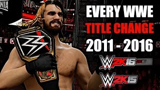 WWE 2K15/WWE 2K16: Every WWE Title Change (2011 - 2016)