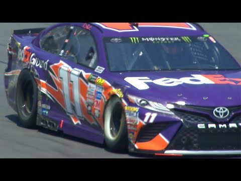 Hamlin hits wall hard during practice for the All-Star Race