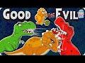The Jurassic   Good Vs Evil   Dinosaurs Cartoon For Children   Dinosaur Story Episode 9