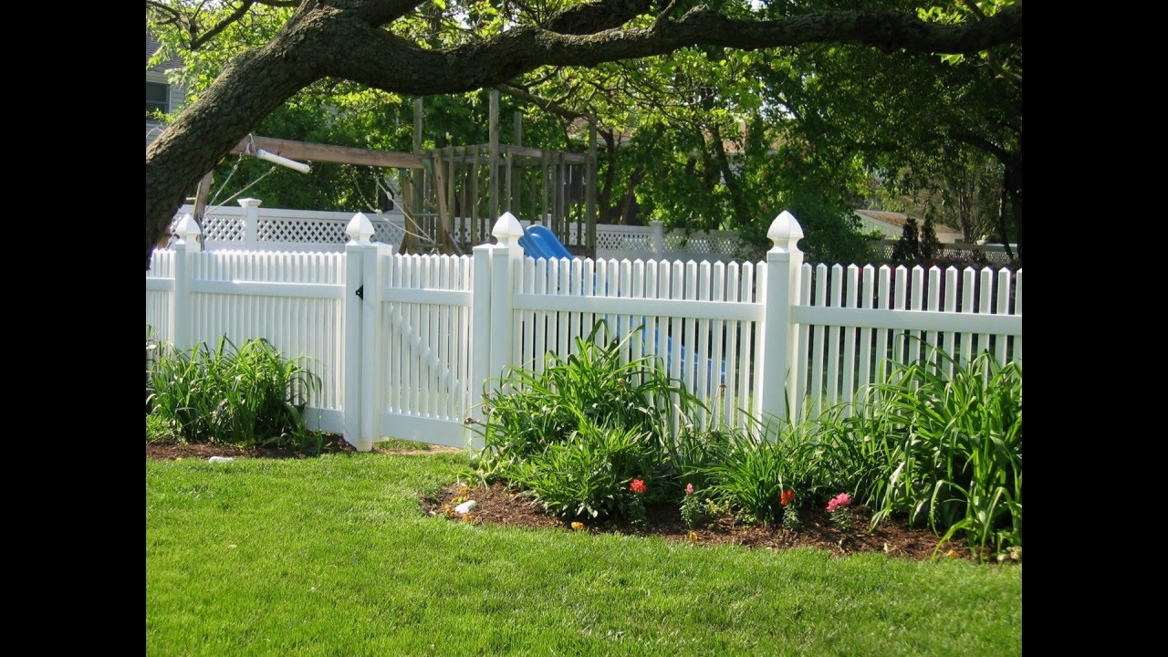 easy install white vinyl fence cost youtube