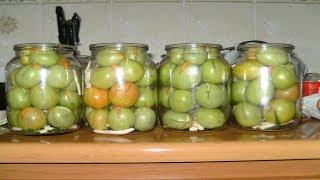 Вкусные маринованные зеленые помидоры