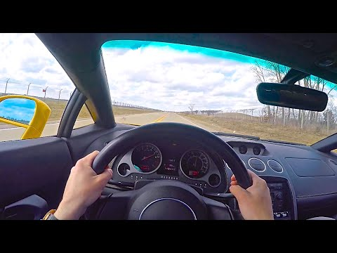 Lamborghini Gallardo V10 POV Drive and Incredible Exhaust Sound!