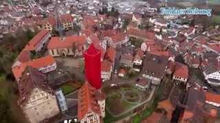 """Größte """"Kerze"""" der Welt - Drohnen-Flug über Schlitz"""
