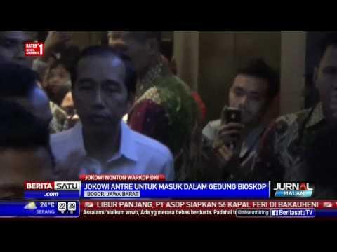 Nonton Warkop DKI Reborn, Jokowi Dan Keluarga Antre Di Bioskop