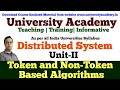 L4: Distributed System| Distributed Mutual Exclusion | Token based and non token based algorithms