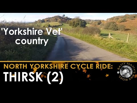 """Yorkshire Vet country"" bike ride from Danby Wiske, Northallerton, to Thirsk -  sunny 5th  Nov"