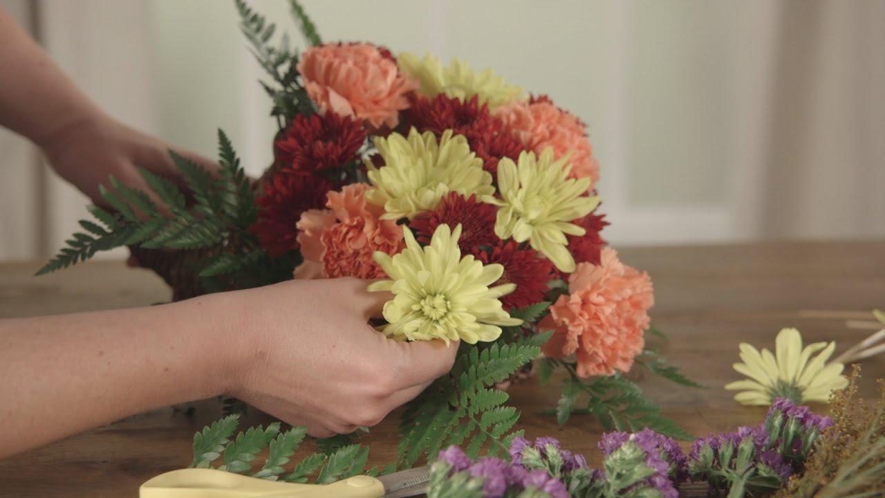 How To Make A Thanksgiving Cornucopia Centerpiece Youtube