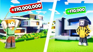 BUILDING MODERN HOUSE TO GET DIAMONDS FROM LOGGY | MINECRAFT