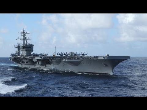 Military Weapon Information Battle Group USS Carl Vinson Arrived at Guam (Port Stop)