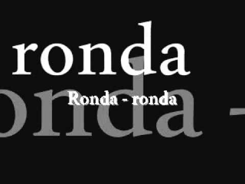 ,  Ronda ronda  '           P.Hinoke    (1993 ).