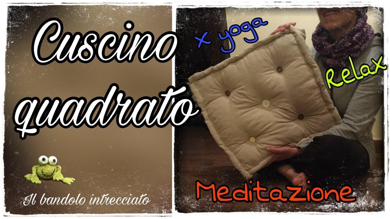 Cuscino Capitonnè Fai Da Te cuscino quadrato - ideale per relax e meditazione- cucito creativo e riciclo