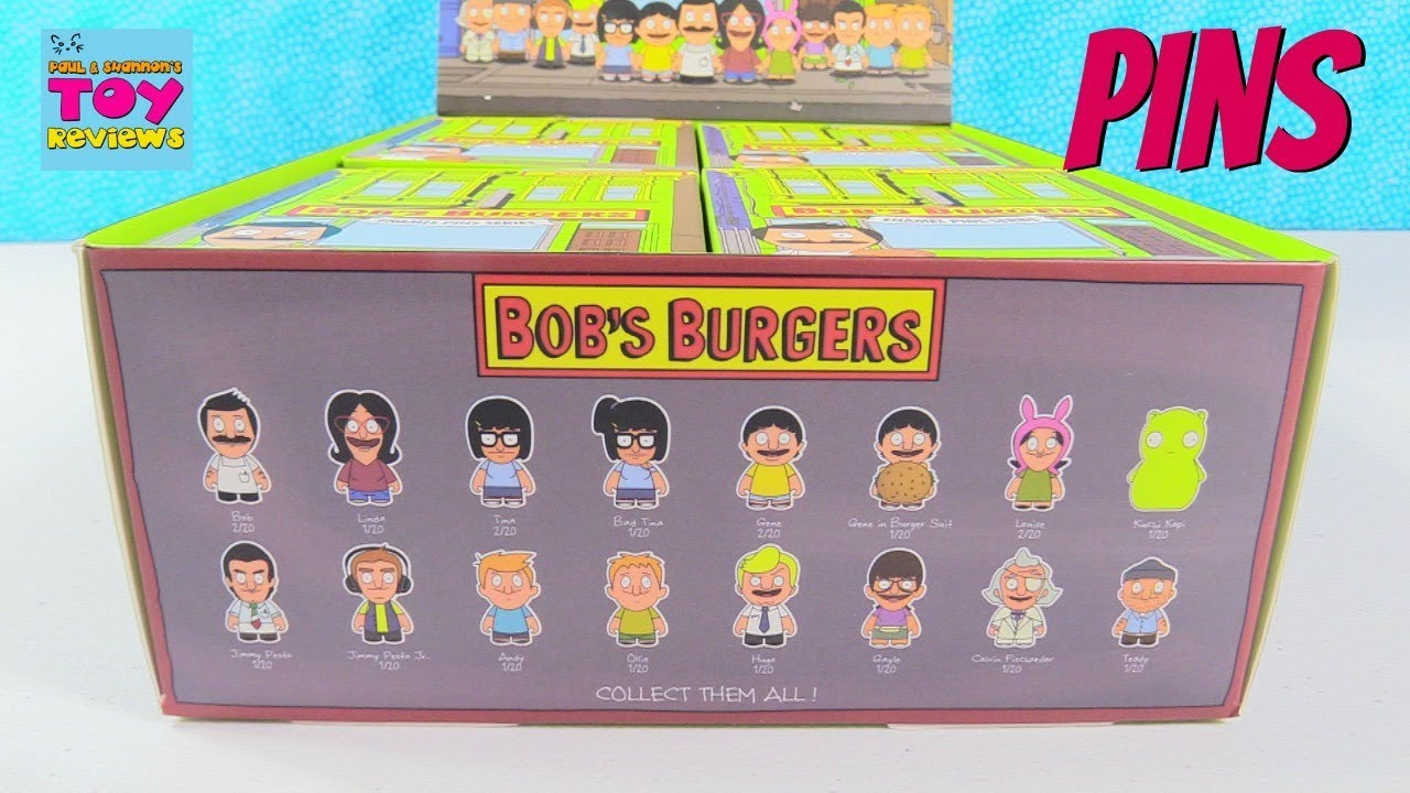 Bobs Burgers Enamel Pin Series Kidrobot Full Box Opening ...