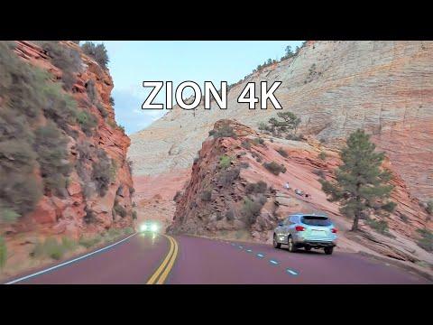 Zion National Park 4K - Scenic Drive - Utah USA