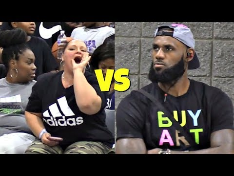 LeBron James Jr SHUTS UP Heckler! USBA Nationals 2018