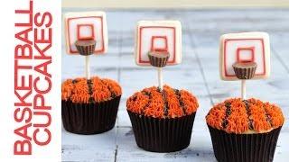 Basketball Hoop Cupcakes,  Peanut Butter Reeses Hoop