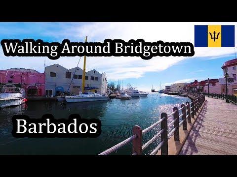 4K Barbados 2017 - Walking Around Bridgetown Marina - October