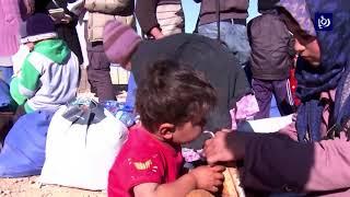 إخلاء مخيم الحدلات على الحدود الأردنية السورية - (8-9-2017)