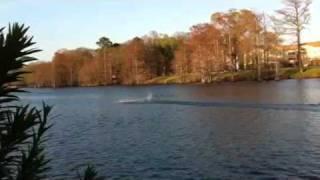 "Rc Gas Boat 72"" 49cc Electric Start Test Run"