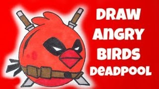 How To Draw  Angry Birds Deadpool