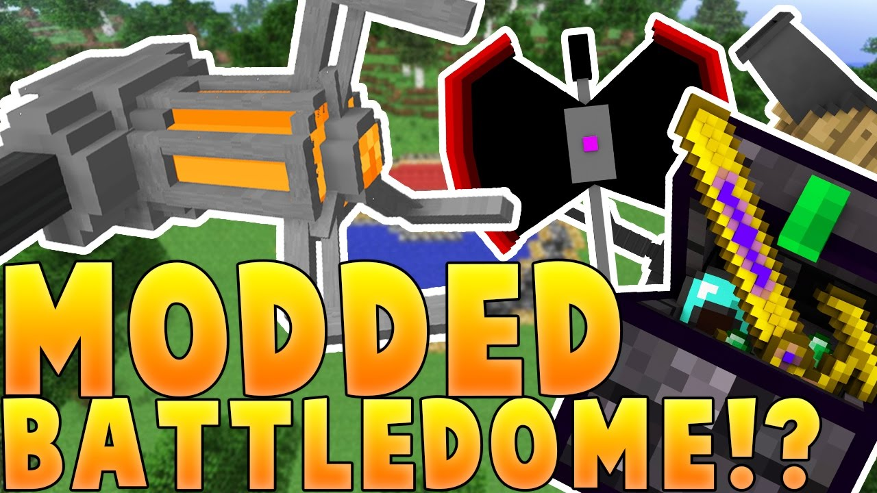 Minecraft MOST OVERPOWERED ARMOR EVER MODDED BATTLEDOME