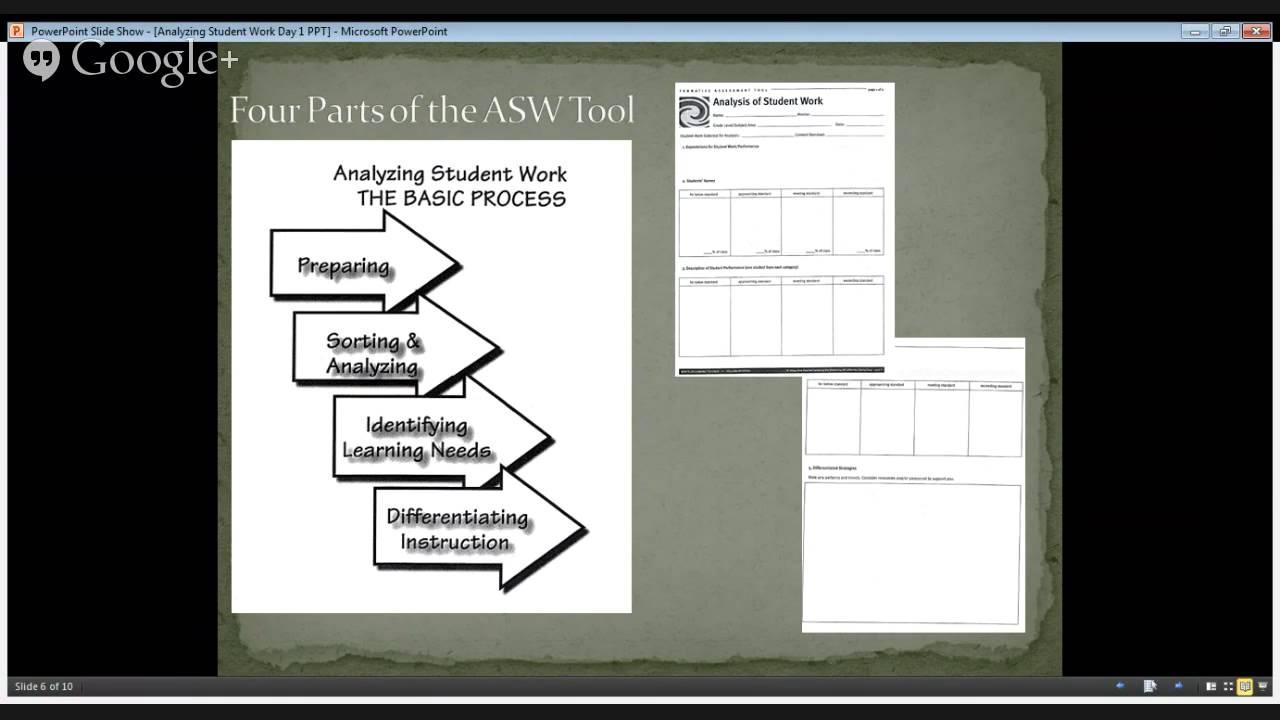 Wels Nti Forum Analyzing Student Work Youtube