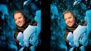 Добавляем снег на фотографию / Add the snow on the photo